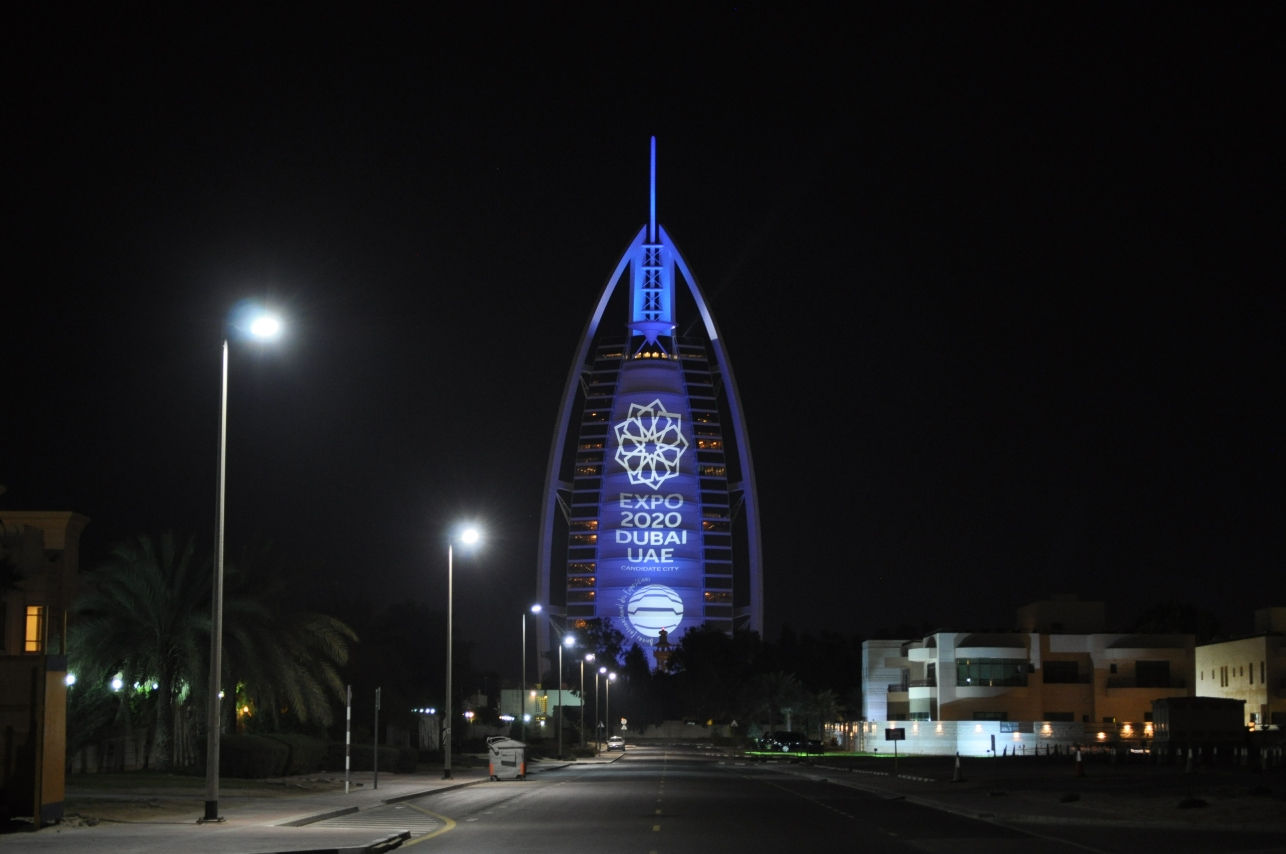 Burj khalifa burj al arab expo 2020 studied x producing y for Burj al arab